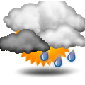 Forecast:  Increasing clouds with little temperature change.